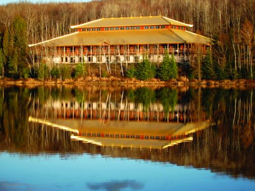 Canada meditation hall on lake