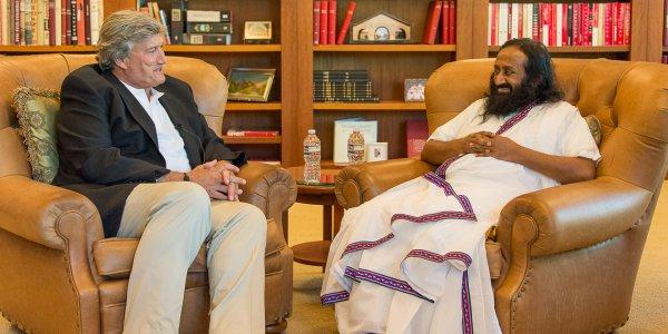 Sri Sri Ravi Shankar with Jim Doty at Stanford - July 1, 2014