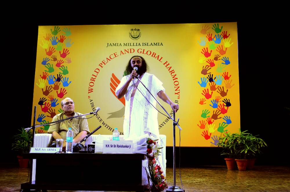 Sri Sri Ravi Shankar at Jamia Millia Islamia