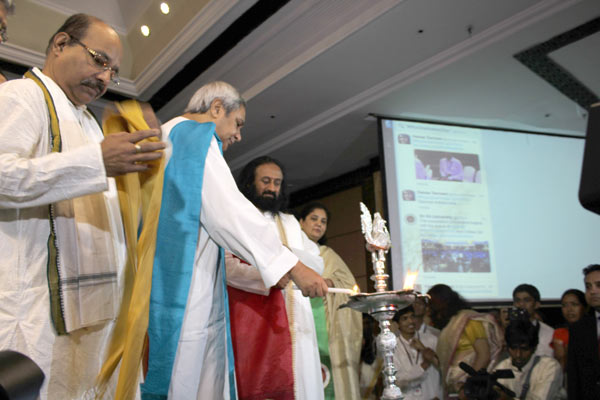 Sri Sri Ravi Shankar at Sri Sri University Inauguration