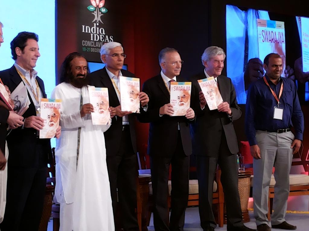 Sri Sri Ravi Shankar Swarajya Magazine Launch
