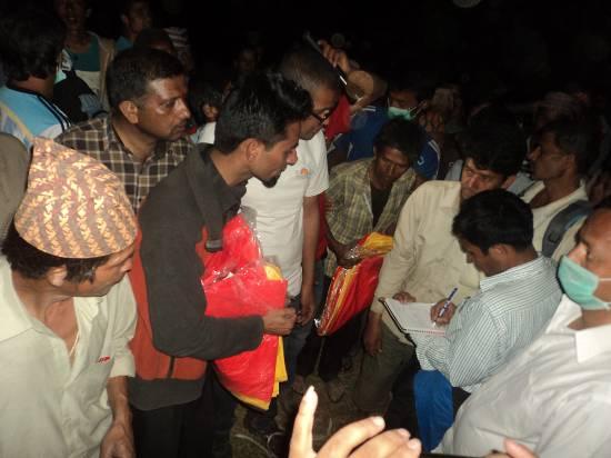 tent distribution at Kalika, Sindhupalchowk, Nepal