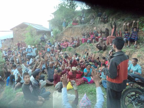 trauma relief at Kalika, Sindhupalchowk, Nepal