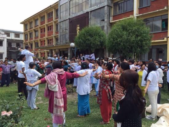 trauma relief at Maternity Hospital 2, Nepal