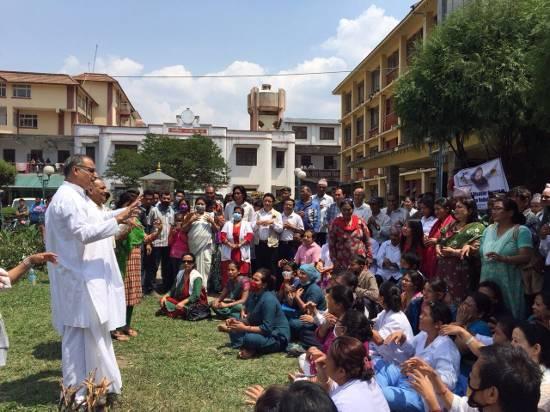 trauma relief at Maternity Hospital, Nepal