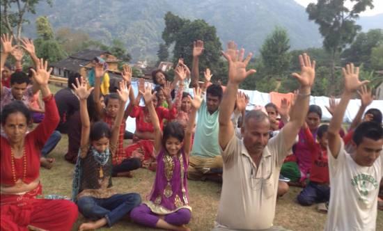 trauma relief at Nuwakot, Nepal