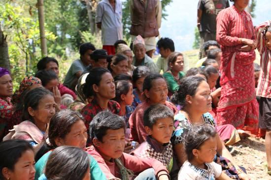 trauma relief at Sindhupalchowk