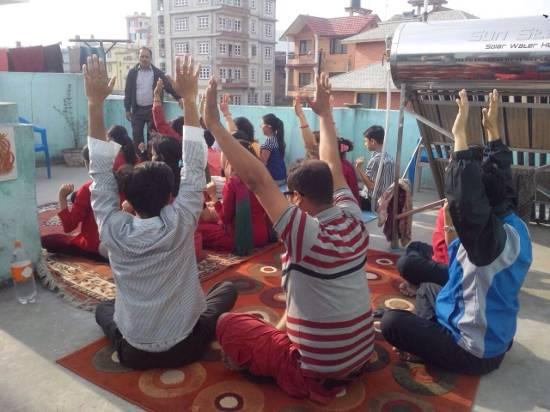 trauma relief at katunje bhaktapur, Nepal