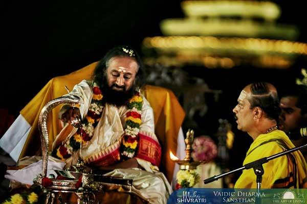 Mahashivratri Gurudev Sri Sri Ravi Shankar Rudrabhishekam