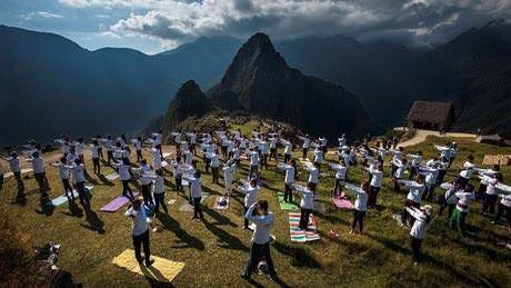 Yoga Day Machu Picchu, Peru
