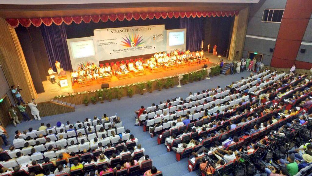 Sri-Sri-Ravi-Shankar-Strength-in-Diversity-North-East-conference-stage-left