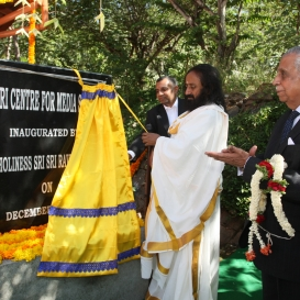 Emphasizing Responsible Media - Inauguration of the Sri Sri School of Media Studies