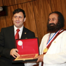 Received award in Paraguay for humanitarian work
