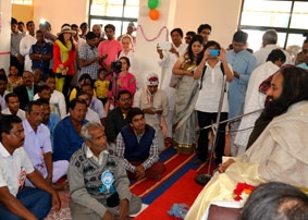Inauguration of community center for villagers