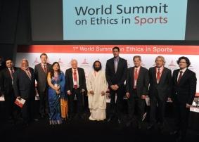 Sri Sri addresses 1st World Summit On Ethics In Sports at FIFA Headquarters